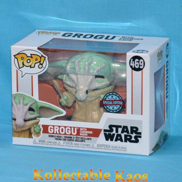 Star Wars: The Mandalorian - Grogu with Chowder Squid Pop! Vinyl Figure