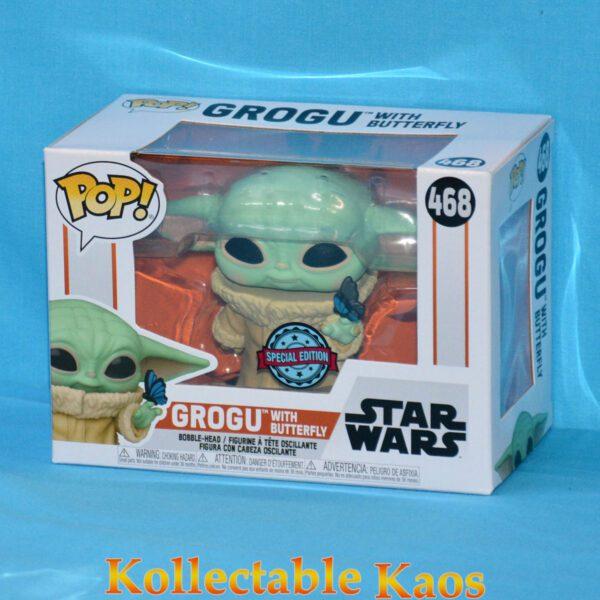 Star Wars: The Mandalorian - Grogu with Butterfly Pop! Vinyl Figure