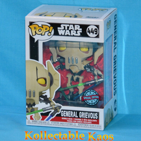 Star Wars - General Grievous Metallic Pop! Vinyl Figure