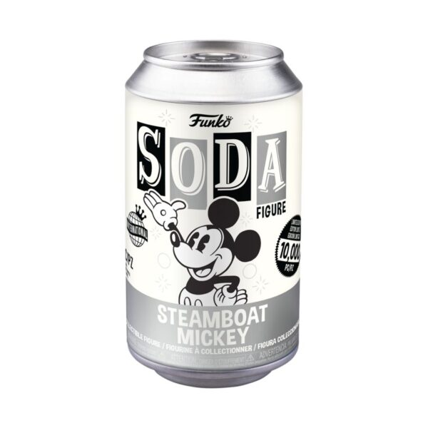 Mickey Mouse - Steamboat Mickey Vinyl SODA Figure in Collector Can