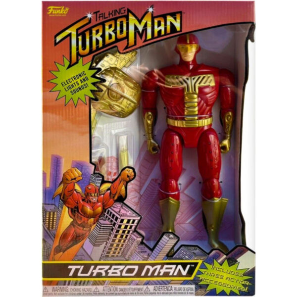 """Jingle all the Way - Turbo Man 13.5"""" Action Figure with Light & Sound"""