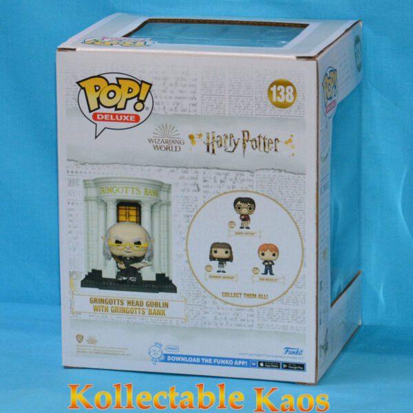 Harry Potter - Gringotts Head Goblin with Gringotts Bank Diagon Alley Deluxe Pop! #138