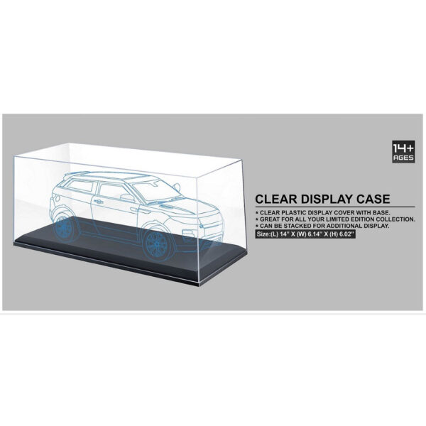 1:18 Black Display Case (L) 35.5cm x (W) 15.6cm x (H) 15.3cm